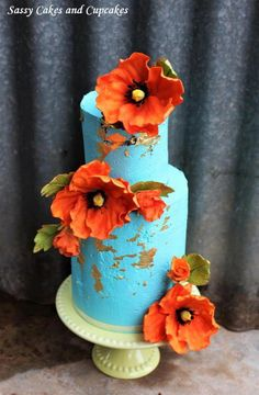 Poppies in bloom by Sassy Cakes and Cupcakes (Anna) #poppiescake