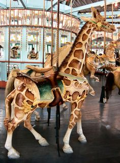 New Orleans City Park Carousel Giraffe by Unknown Manufacturer