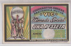 Vic moneda social. Una peseta Cover, Art, Socialism, Coins, Cover Pages, Craft Art, Kunst, Art Education, Sanat
