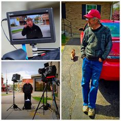 Jake Barlow is filming with the D7w Field Monitor and the IFB1024 feather weights LED lights on location in Indiana for CBS Evening News.
