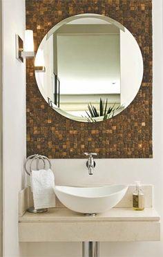 Lavabo – Home Trends 2020 Laundry In Bathroom, Bathroom Makeover, Bath Design, Bathroom Mirror, Round Mirror Bathroom, Bathroom Design, Bathroom Decor, Washbasin Design, Small Bathroom Makeover