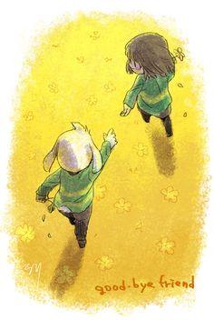 離れても友達でいさせて(ユーミン聴いてた) Chara and Asriel