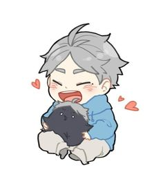 Haikyuu Fanart, Haikyuu Anime, Cute Anime Chibi, Kawaii Anime, Haikyuu Characters, Anime Characters, Fictional Characters, Anime Bebe, Sugawara Koushi