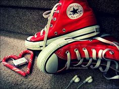 red Converse shoes, memories @Shauni Daley