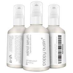 Poppy Austin Retinol Serum. Ideal for daily use on face and neck. 1005 cruelty free. #poppyaustin #retinol