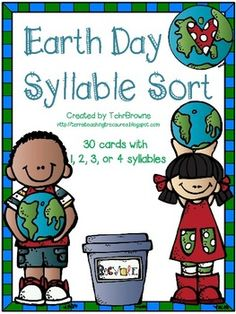 Earth Day Words Syllable Sort $