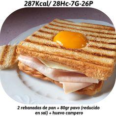 Desayuno rápido y Fácil que echaba de menos  Rebanadas de pan Pavo Huevo Rico rico y nos vamos a darle caña a la mañana  cuenta personal @joselu_zapata