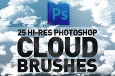 25 Hi-Res Cloud Brushes by Creative Graphics on @creativemarket