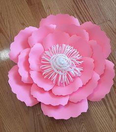 Plantilla de flor de papel corte de SVG archivo, patrón de la flor de papel, flor de papel DIY, patrón de flor de papel, tutorial de flores de papel,