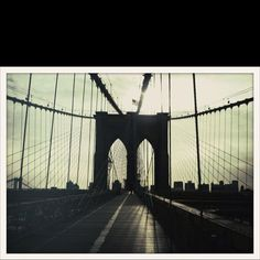 Brooklyn bridge ..love new York