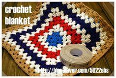 sunny&funny: crochet (ACN) gift-blanket granny  square  FREE pattern