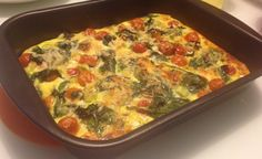 omelete espinafre tomate facil