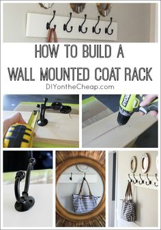 How to build a wall mounted coat rack. This is a simple woodworking project -- great for beginners!