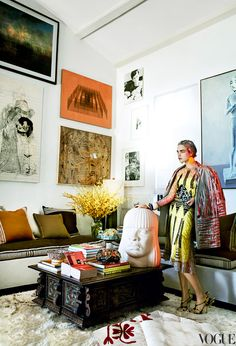 Mario Testino's 1930′s Spanish Hollywood Hills home | photography by Mario Testino for Vogue