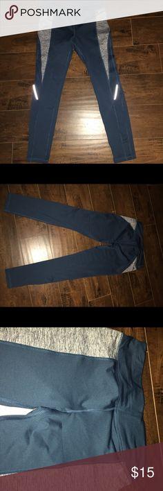 Athletic leggings Blue and Gray athletic leggings Pants Track Pants & Joggers