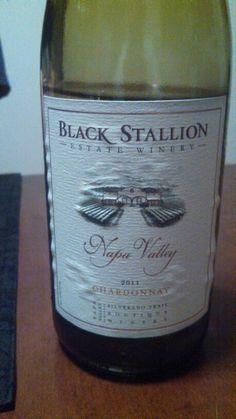 6-15-2014:  Black Stallion Chardonnay, but a 2012.  Good when chilled.