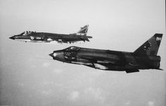 Royal Navy Sea Harrier and a Royal Air Force Lightning.