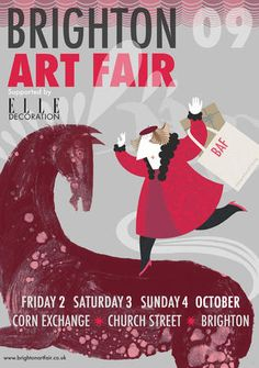 Brighton Art Fair 2009 - Poster by SARAH YOUNG