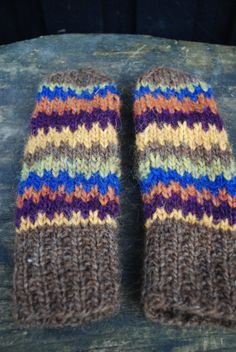Unique Colorful Mittens in Pure Icelandic Wool by Kollestrik, $90.00