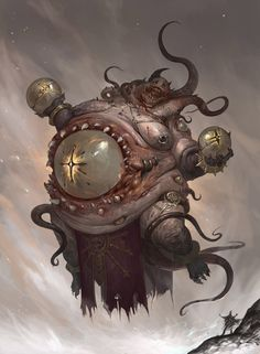Morbid Fantasy — Beholder – creature concept by minjun Kim Fantasy Kunst, Dark Fantasy Art, Fantasy Artwork, Demon Artwork, Monster Design, Monster Art, Monster Concept Art, Creature Concept Art, Creature Design