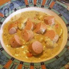 Kartoffelsuppe nach bayrischer Art