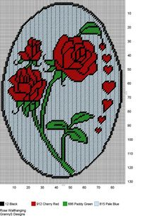 ROSE WALL HANGING by GrannyS Designs