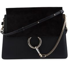 Chloé Faye Bag (24,090 MXN) ❤ liked on Polyvore featuring bags, handbags, shoulder bags, bolsas, purses, lips pursed, round handbags, hand bags, chloe handbags and chain purse