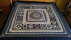Ravelry: Project Gallery for Sophie loves Lilla Bjorn Winter Blanket Border pattern by Emma Aldous