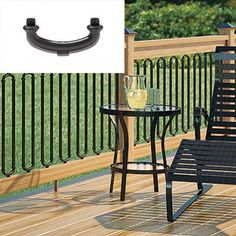 These stock aluminum balusters by Deckorators create a unique railing design that affords more visibility than standard wood.   thisoldhouse.com