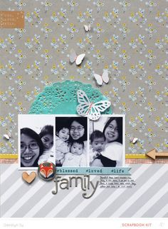 Family *Main Kit Only* by qingmei at @studio_calico - 8.5x11 layout