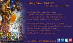 Fairytale Sunset - Author:  Ivy de Waal Lush Green, Green Tops, Tree Leaves, Fairytale, Ivy, Poetry, Author, Clouds, Sunset
