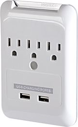 wall-mounted charging station.. great for bedrooms and offices! Built right into the wall, like an outlet.