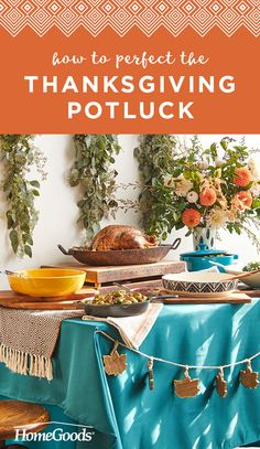 Create a Thanksgiving They'll Love - HomeGoods Thanksgiving Potluck, Thanksgiving Table Settings, Thanksgiving Decorations, Thanksgiving Funny, Holiday Dinner, Family Holiday, Diy Projects For Fall, Brussels Sprouts, Autumn Inspiration
