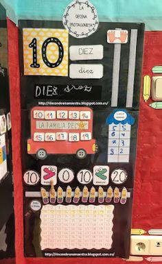 Rincón de una maestra: La decena protagonista Preschool Education, Teaching Math, Maths, Holiday Decor, Panel, K2, Kids Math, Education Posters, Toddler Learning Activities