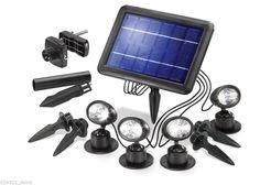 Solarstrahler Solarleuchte Solar  Solarspot Quattro Power