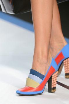 Love a stylized heeled loafer!