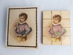 Rare French all original miniature puzzle blocks in original box from ca. 1880 | eBay