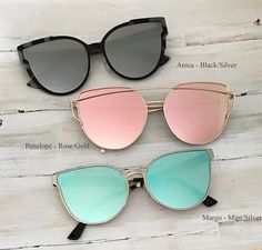 Boutique quality sunglasses with total UV protection. Round Lens Sunglasses, Flat Top Sunglasses, Stylish Sunglasses, Cat Eye Sunglasses, Mirrored Sunglasses, Sunglasses Women, Trending Sunglasses, Fake Glasses, Fashion Eye Glasses