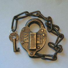Great Northern Railway Cast Brass Switch Lock W Key