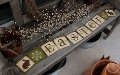 Primitive Folk Art EASTER BANNER GARLAND