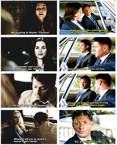 Clarence I miss Meg... Cas and Meg were awesome together. Its that whole opposites attract. Angel+Demon