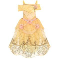 Belle Costume for Girls | Costumes & Costume Accessories | Disney Store - I had a dress like this as a child <3