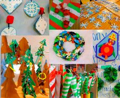 Upper primary art and craft ideas (not just for Christmas either)