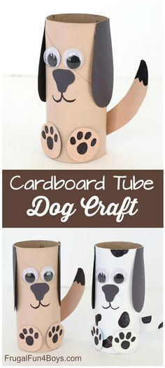 Paper Roll Dog Craft – Super fun craft for kids! Very simple supplies that you probably have on hand. Paper Roll Dog Craft – Super fun craft for kids! Very simple supplies that you probably have on hand. Hand Crafts For Kids, Toddler Crafts, Art For Kids, Simple Kids Crafts, Animal Crafts Kids, Simple Paper Crafts, Felt Crafts, Crafts For Dogs, Simple Craft Ideas
