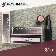 Mary Kay cream lipstick bronzed New never used. Three in stock $15/piece Mary Kay Makeup Lipstick