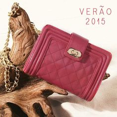 Pink + corrente #shoestock #verao2015 #itbag #colorful #pink - Ref 13.06.0035
