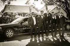 Groom and groomsmen with limo  (Kristen Borelli Photography, Victoria Wedding Photography, Hatley Castle Wedding Photography, Destination Wedding Photographer, Victoria Wedding Photographer, Hatley Castle Wedding Photographer, Nanaimo Wedding Photographer, Vancouver Island Wedding Photographer, Vancouver Island Wedding Photography, Prince George Wedding Photographer)
