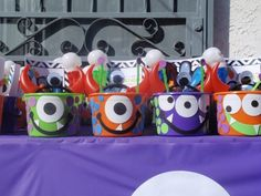 monster birthday party favors so cute!