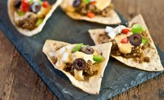 Quinoa Nachos - - - - - -  - - - - -  -  1/4 cup safflower or vegetable oil -  1/2 cup onion, diced -  3 garlic cloves, minced -  2 tablespoons dry sage -  1 tablespoon dry thyme -  1 teaspoon oregano leaves -  1 teaspoon dry red pepper flakes -  1 tablespoon chili powder -  1 tablespoon ground cumin -  2 cups cooked quinoa
