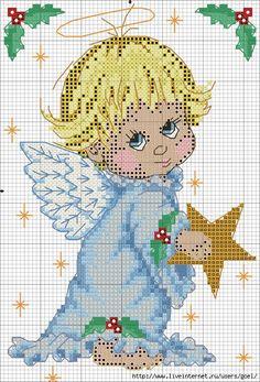 Фото, автор valovsckaya на Яндекс.Фотках  Angel Cross stitch. Follow diagram for stitching.